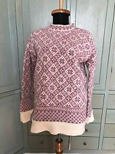 Dale of Norway Pure Wool Nordic Sweater Pink Cream - Damaged for Cutter Crafter