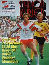 Programm 1989/90 Bayer 04 Leverkusen - Waldhof Mannheim
