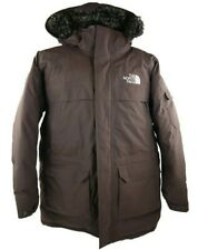 The North Face HyVent Winter Parka Down Jacket Hood w/Faux Fur Brown Mens Medium
