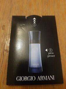 Giorgio  armani, code , Eau De parfum 0.5ml Sample / Travel Size