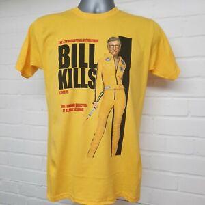 (M) Kill Bill - Bill Kills Movie Poster T-shirt - Bill Gates, Great Reset, WEF