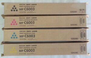 Genuine Ricoh Savin Lanier Toner SET MPC6003 MPC5503 MPC4503 MPC5504 MPC6004