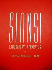 1963 STANSI Laboratory FISHER SCIENTIFIC Catalog ASBESTOS Exposure in Schools!!
