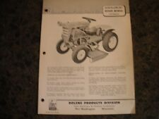 Bolens rotary mower 22443-01 ,owners manual with parts list ,bolens tractor
