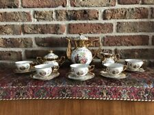 Vintage Bavaria Coffee/Mokka Set gold plated and hand made (5 persons)