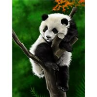 5D Diamond Painting Embroidery Cross Craft Stitch Arts Mural Panda On Tree