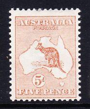 Australia 1913-14 5d Castaño SG 8 como nuevo.