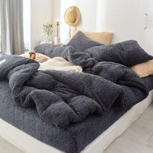 Lamb Cashmere Bedding Set 2019 New Thicken Flannel Bed Linens Velvet Duvet Cover