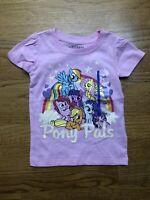 NWT My Little Pony T-shirt Pink Pony Pals Rainbow Sparkly Girls Size 24M New