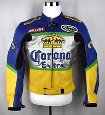 RARE! CORSA CORONA EXTRA PERFORATED LEATHER MOTORCYCLE RACING JACKET MENS 40 M