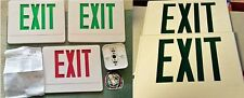 """Lot / Set of 5 Red and Green Plastic """"EXIT"""" Sign Covers with Additional Parts"""