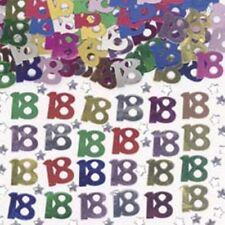 Age 18 Multi-Coloured Table Confetti