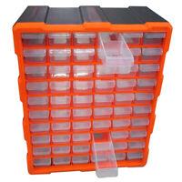 60 Drawer Multi Unit Double Storage Cabinet Box Workshop Tool Organizer Case DIY