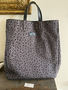 Gucci Unisex GG Plus,Leather Tote Bag Black,Gray Original Authentic