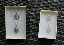 925 Sterling Silver St Christopher Pendant & Chain Necklace - Engraving on back