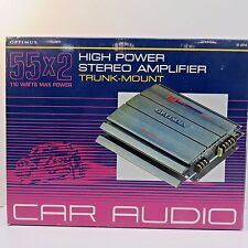 Radio Shack Optimus Xl-110 Car Stereo Amplifier Rear Mnt, Manual Inc Mint in Box
