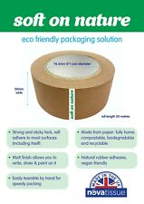 More details for soft on nature self adhesive kraft paper tape | 50mm x 50m | eco friendly