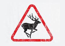 Incorniciato stampa-addio al celibato / DEER attraversamento sign (PICTURE POSTER ANIMALE BEAR FOX ART)