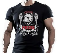 PITBULL DOGS PRIDE BODYBUILDING GYM MMA  WORKOUT MOTIVATION MENS T SHIRT BULLDOG
