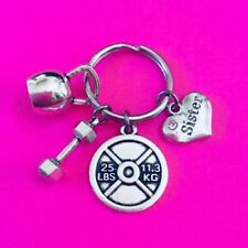 SWOLE SISTER, Bodybuilding Keychain, Weight Lifting Keychain, Fitness Keyring