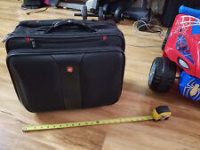 """apple, MAC, dell Wenger Rolling 17"""" Wide Laptop Briefcase Bag Carry On Luggage"""