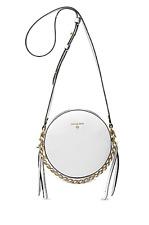 🌺🌹Michael Kors Mini Circle Crossbody Optic White/Gold Original Packaging