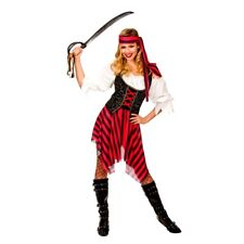 Adult HIGH SEAS PIRATE Fancy Dress Ladies Costume Shipwrecked UK Sizes 6-28