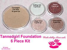 6Pc Lot Tanedgirl Minerals Bare Makeup Veil Foundation Blush Kit #2.3 New/Sealed