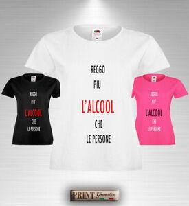 T-Shirt frasi divertenti reggere più alcool che persone estate moda uomo donna