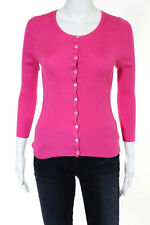 D And G Dolce And Gabbana Pink Ribbed Silk Button Down Cardigan Size IT 38 US 2