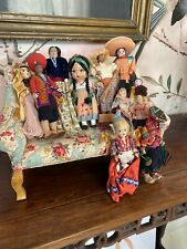 Collection Of Vintage Ethnic International Cultural Dolls From Doll Shop