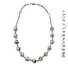 alte Murano Glas Kette Halskette old antique murano glas necklace millefiori