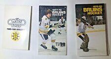 Lot of Boston Bruins Pocket Schedule - 1977-78 1979-80 1980-81