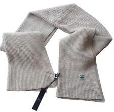Cadeaux pour Hommes G-STAR RAW massive laine d'agneau Blend 89438 Welch écharpe crème
