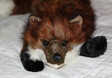 """FOX hound HUG rug DITZ plush toy 26"""" therapeutic animal therapy weighted beanie"""