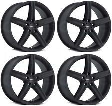 17x7 Vision 469 Boost 5x110 38 Satin Black Wheels Rims Set(4)