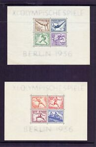 GERMANY 1936 OLYMPICS M/SHEETS ( 2 ) MNH - SEE DESCRIPTION