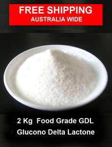 2 kg Food Grade Glucono Delta Lactone  - GDL  E575   - Vegan , Gluten Free