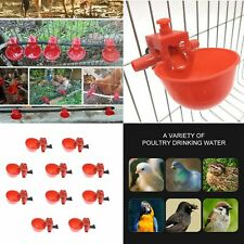 5/10/20/30 Pcs Poultry Water Drinking Cups Chicken Hen Plastic Automatic Drinker