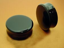 "PAIR OF BLACK 1"" 1/4 INCH 32MM DOUBLE FLARED PLUGS PLUG 11MM LENGTH"