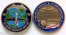 NAVY USS GEORGE WASHINGTON SSBN-598 SUBMARINE DETERRENT PATROL CHALLENGE COIN