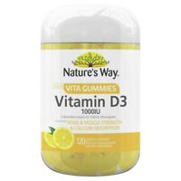 Nature's Way Adult Vita Gummies Vitamin D3 1000IU 120 Lemon Flavoured Pastilles