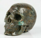"2.0"" Chrysocolla Quartz Carved Crystal Skull, Realistic, Crystal Healing"