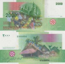 Comoros 2000 Francs (2005) - Hut/Market/p17 Prefix E UNC