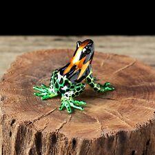 Frog Hand Blown Glass Miniature Figurine Animal Collectibles Art Dec Hand Paint