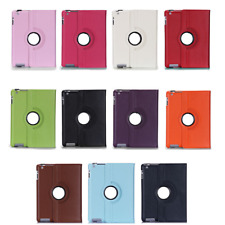 360 Rotating Folio Swivel Faux Leather Case for iPad 2/3/4 Mini 1/2 Air Pro
