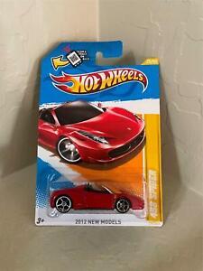 hot wheels 2012 new models ferrari 458 spider red #25 CL21