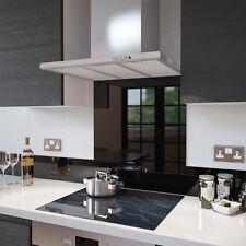 Black Toughened Glass Splashback - Various Sizes - Heat Resistant to 500°C
