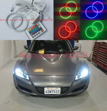 2x Excellent RGB Multi-Color Angel Eyes Halo Rings For Mazda RX8 Rx-8 2004 -2008