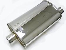 "OBX Universal Muffler Resonator Type KV2013 Side-In - Center-Out 2.5"" OD"